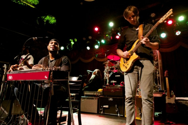 Performing as a guest guitarist with Robert Randolph at Brooklyn Bowl, 2014.