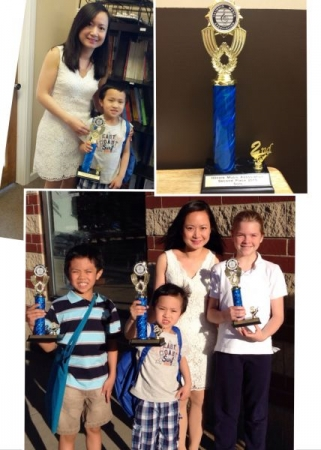 My violin and piano music competition winners!