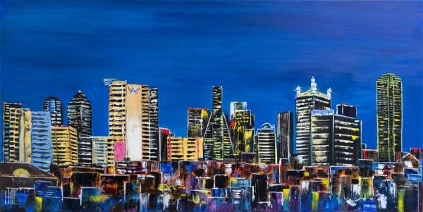 Live Event Painting. Dallas panorama