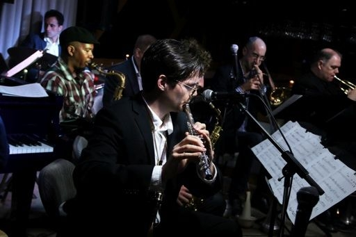 Performing with the Todd Marcus Jazz Orchestra, a D.C. based ensemble with an Egyptian influence, at Trumpets Jazz Club in NJ.