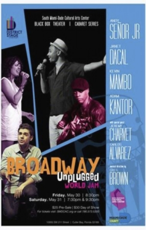 Singing at the Broadway Unplugged Concert in Miami, FL.
