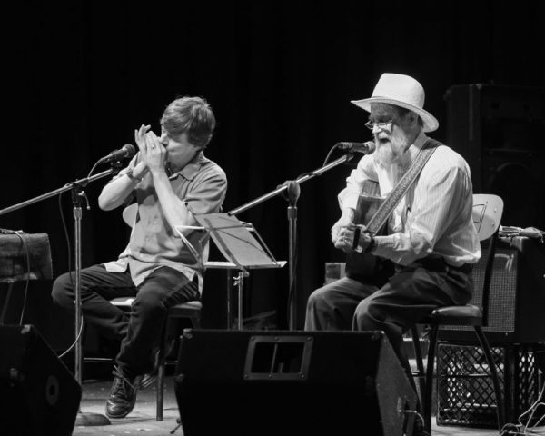 Papa John Kolstad & Clint Hoover in concert at the Midwest Harmonica Workshops