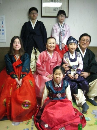 My Korean family on New Year's Day