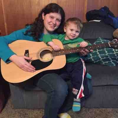 Guitar lesson with my 2 year old son