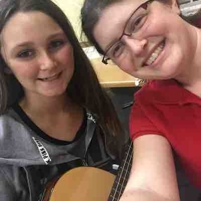 Me and my fabulous guitar student, Gigi
