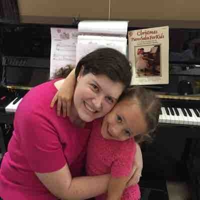 Me and my sweet piano & harp student