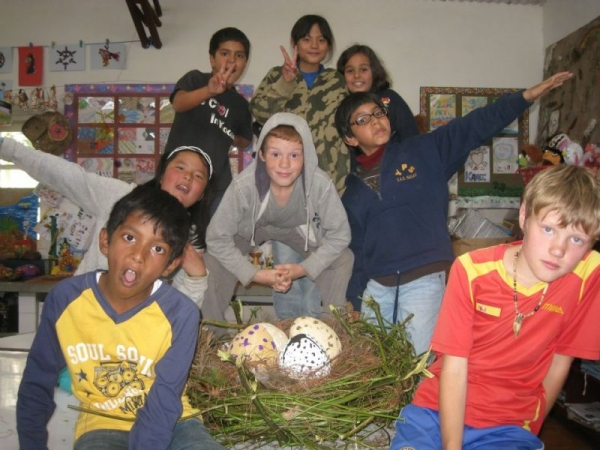 My young artists were proud of their awesome bird eggs and the nest.