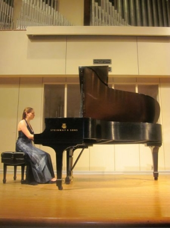 My senior recital at the University of Cincinnati College-Conservatory of Music