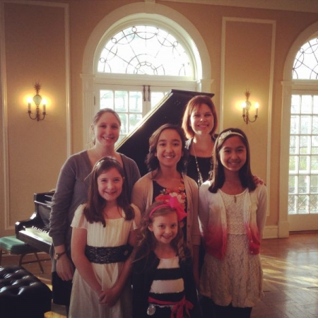 With a group of my students at their fall 2014 recital