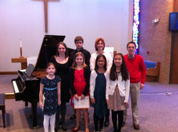 Proud of my students after their fall 2013 recital