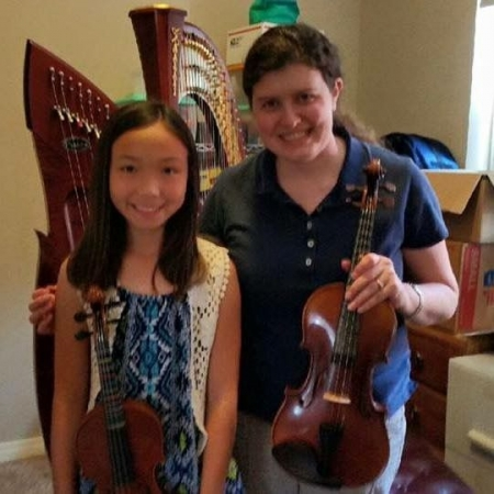Me and my amazing violin student, Ellie