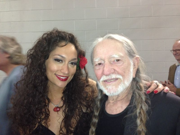 Backstage after Lilla shared the stage with the great Willie Nelson!