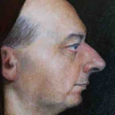 Detail of portrait. The Monk