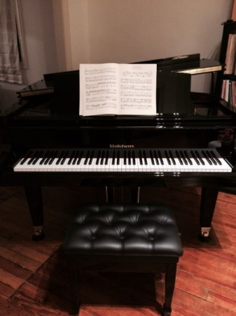 Baldwin Grand Piano at my home studio.