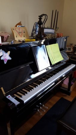 My beautiful Yamaha U1 100th Anniversary Edition. You'll love it!