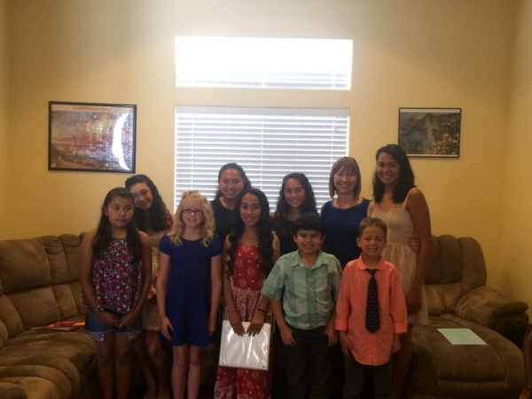 A portion of my takelessons students before their a recital I put on in the spring. :)