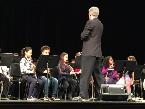 Morven, 4th grader plays 1st chair clarinet in 5th grade band.
