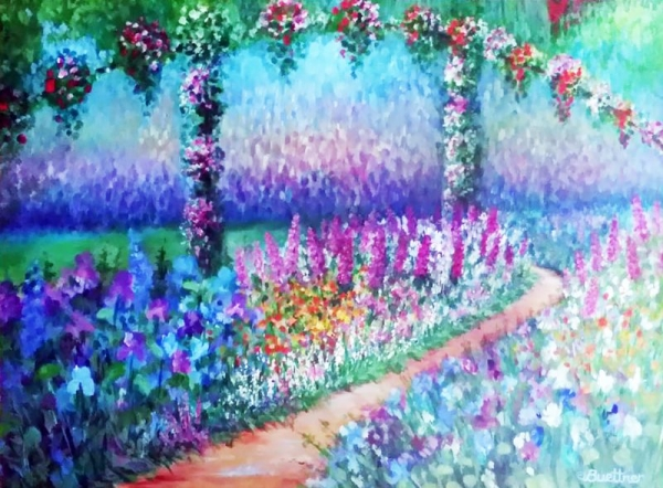 Monet's Trellis by Lynn A. Buettner