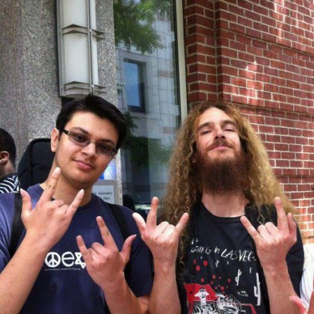 Meeting my hero Guthrie Govan at his Berklee clinic!