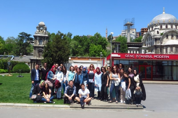 On an excursion with my students from Üsküdar  University to Istanbul Modern