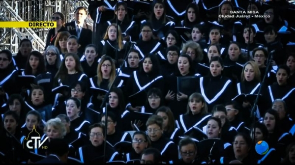 Pope Francis Mass Choir in Juarez Mexico. February 17th 2016.