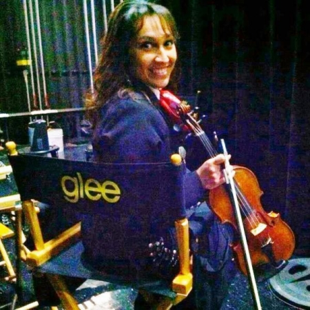 On the set of Glee! Fox TV @ Paramount Studios