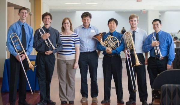 Washington Square Brass Quintet with Dr. Cohen and Dr. Adduci, Fall 2014