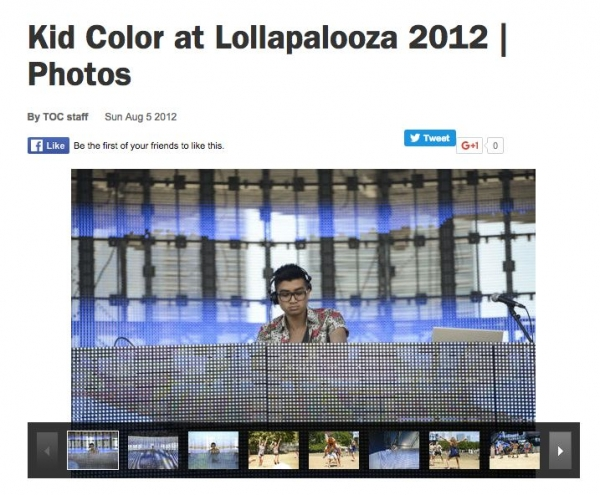 I was fortunate enough to perform at Chicago's Lollapalooza festival in 2012.