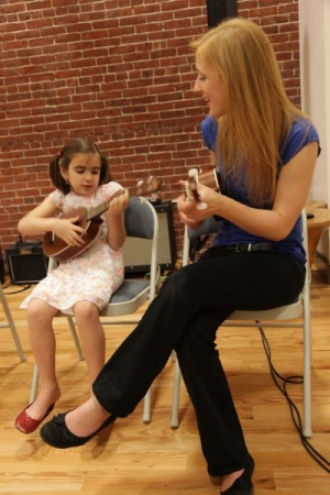 Ukulele lessons for the smaller ones...