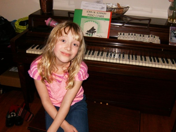 happy Piano Student Hannah F. 2015
