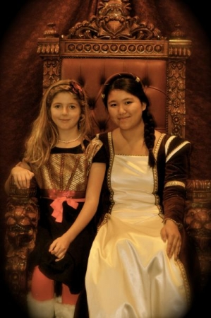 A photo with a lovely student from a past choral workshop for kids in grades K-6. (April 2013)