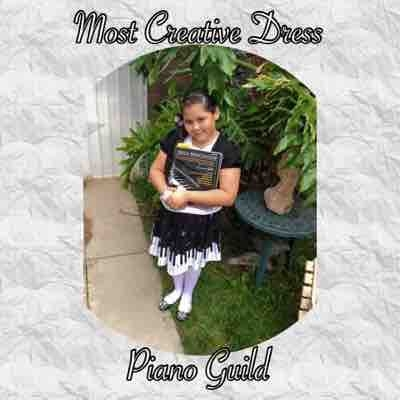 Most creative dress for 2015 Piano Guild Auditions