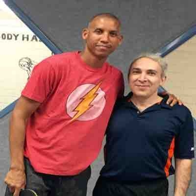 With Reggie Miller , Indiana Pacers basketball player and a good Table Tennis player !