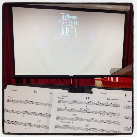 Doing a recording session workshop with Disney Performing Arts Orchestra!!!