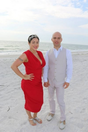 Getting married at the beach! It's a good step to start a new life! Wonderful day!