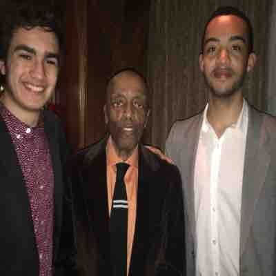 My friend and I with the legendary jazz drummer Roy Haynes