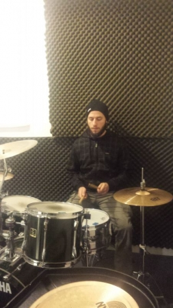 Eric - drum set and percussion student