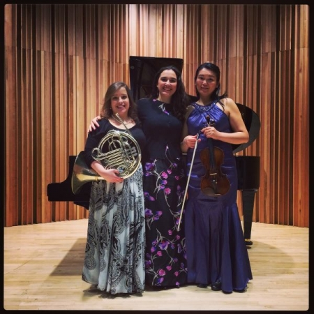 After performing Brahms' Horn Trio at William Paterson University in New Jersey
