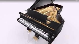 A grand piano from the iPhone app called Piano 3D.