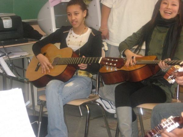 Guitar Ensemble at International High School