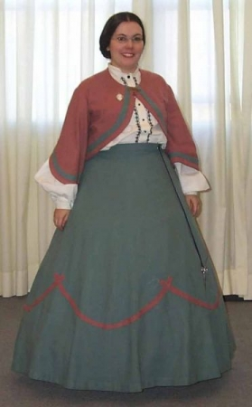 1862- you should see the detail on the skirt and a closeup of my tatting.