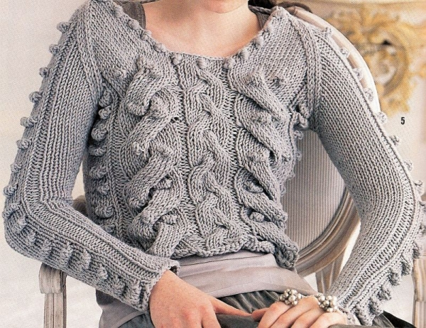 A very cool sweater I knit