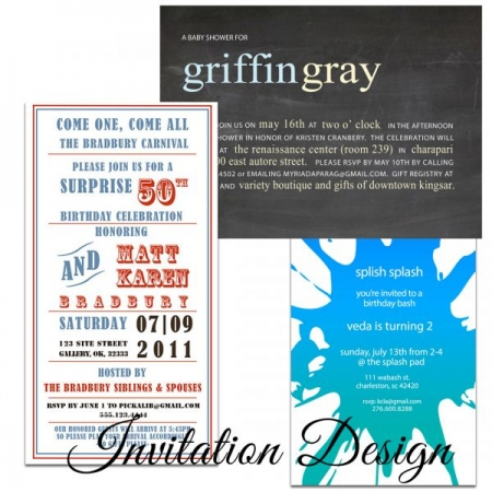 Invitation Design in Photoshop