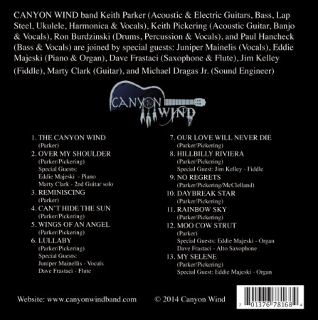 Back of Canyon Wind Band second Album