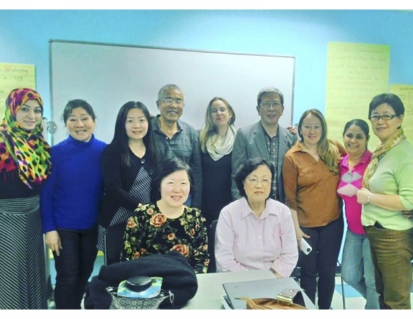 Advance ESL class at the New Americans Welcome Center