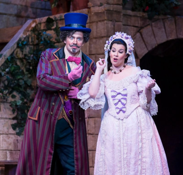 Singing Adina in The Elixir of Love, Opera Santa Barbara