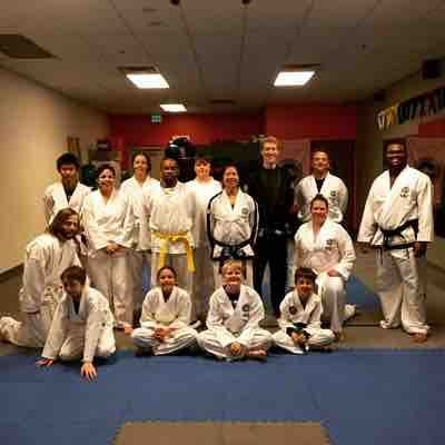 The day I was lucky enough to be the guest instructor at my old instructor's taekwondo studio in Colorado.