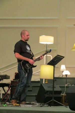 I now play electric guitar at Calvary Baptist Church, Sundays and Wednesday night with the youth.