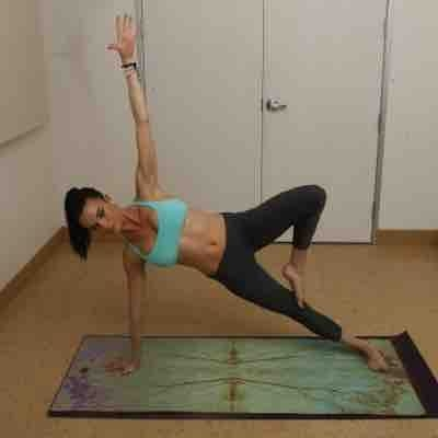 Side plank action! Amazing for core/oblique strength!