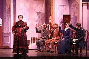 "A scene from ""Albert Herring"" Miami University (photo by Jeff Sabo)."